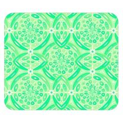 Kiwi Green Geometric Double Sided Flano Blanket (small)  by linceazul