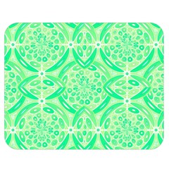 Kiwi Green Geometric Double Sided Flano Blanket (medium)  by linceazul