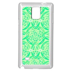 Kiwi Green Geometric Samsung Galaxy Note 4 Case (white) by linceazul