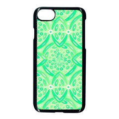 Kiwi Green Geometric Apple Iphone 7 Seamless Case (black) by linceazul