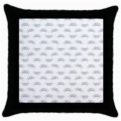 Pop Art Style Crabs Motif Pattern Blob Throw Pillow Case (black)
