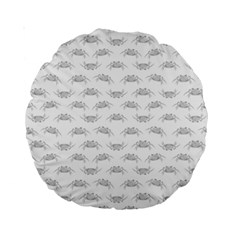 Pop Art Style Crabs Motif Pattern Blob Standard 15  Premium Round Cushions by dflcprints