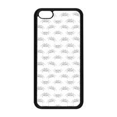 Pop Art Style Crabs Motif Pattern Blob Apple Iphone 5c Seamless Case (black) by dflcprints