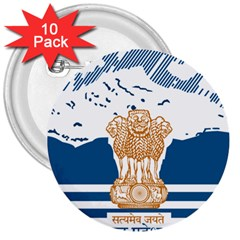 Seal Of Indian Sate Of Himachal Pradesh 3  Buttons (10 Pack)  by abbeyz71