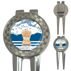 Seal Of Indian Sate Of Himachal Pradesh 3 In 1 Golf Divots by abbeyz71