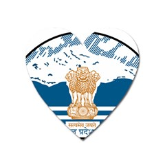 Seal Of Indian Sate Of Himachal Pradesh Heart Magnet by abbeyz71
