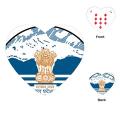 Seal Of Indian Sate Of Himachal Pradesh Playing Cards (heart)  by abbeyz71