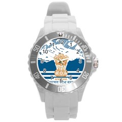 Seal Of Indian Sate Of Himachal Pradesh Round Plastic Sport Watch (l) by abbeyz71