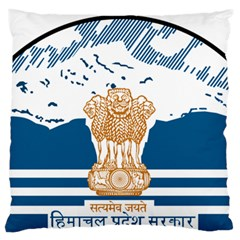Seal Of Indian Sate Of Himachal Pradesh Large Flano Cushion Case (two Sides) by abbeyz71