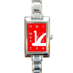 Flag Of Indian State Of Jammu And Kashmir  Rectangle Italian Charm Watch by abbeyz71