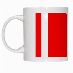 Flag Of Indian State Of Jammu And Kashmir  White Mugs by abbeyz71