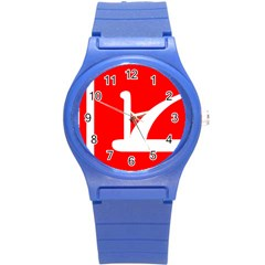Flag Of Indian State Of Jammu And Kashmir Round Plastic Sport Watch (s) by abbeyz71