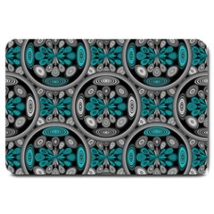 Geometric Arabesque Large Doormat  by linceazul