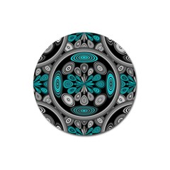 Geometric Arabesque Magnet 3  (round) by linceazul