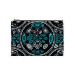 Geometric Arabesque Cosmetic Bag (medium)  by linceazul