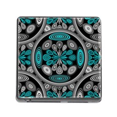 Geometric Arabesque Memory Card Reader (square) by linceazul