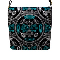 Geometric Arabesque Flap Messenger Bag (l)  by linceazul