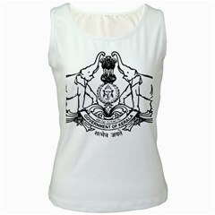 Seal Of Indian State Of Kerala  Women s White Tank Top by abbeyz71