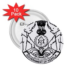 Seal Of Indian State Of Kerala  2 25  Buttons (10 Pack)  by abbeyz71
