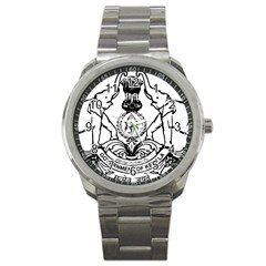 Seal Of Indian State Of Kerala  Sport Metal Watch by abbeyz71