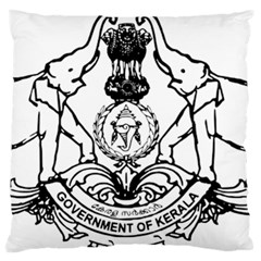 Seal Of Indian State Of Kerala  Large Flano Cushion Case (two Sides) by abbeyz71