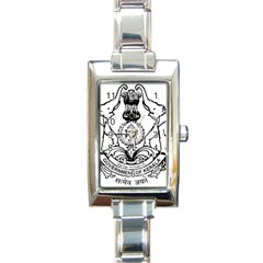Seal Of Indian State Of Kerala Rectangle Italian Charm Watch by abbeyz71