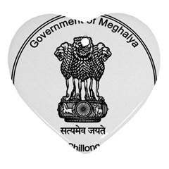 Seal Of Indian State Of Meghalaya Ornament (heart) by abbeyz71