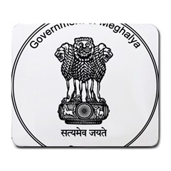 Seal Of Indian State Of Meghalaya Large Mousepads by abbeyz71