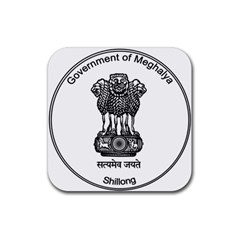 Seal Of Indian State Of Meghalaya Rubber Square Coaster (4 Pack)  by abbeyz71