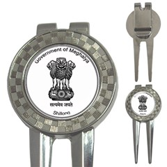 Seal Of Indian State Of Meghalaya 3 In 1 Golf Divots by abbeyz71