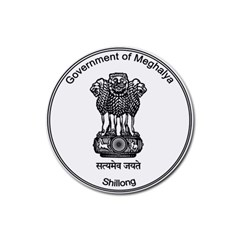 Seal Of Indian State Of Meghalaya Rubber Round Coaster (4 Pack)  by abbeyz71