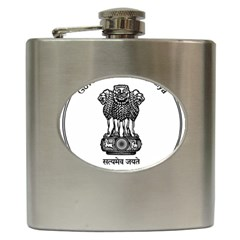 Seal Of Indian State Of Meghalaya Hip Flask (6 Oz) by abbeyz71