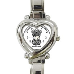 Seal Of Indian State Of Meghalaya Heart Italian Charm Watch by abbeyz71