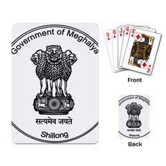 Seal Of Indian State Of Meghalaya Playing Card by abbeyz71