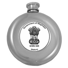 Seal Of Indian State Of Meghalaya Round Hip Flask (5 Oz) by abbeyz71