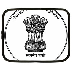 Seal Of Indian State Of Meghalaya Netbook Case (large) by abbeyz71