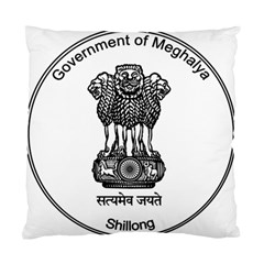 Seal Of Indian State Of Meghalaya Standard Cushion Case (one Side) by abbeyz71