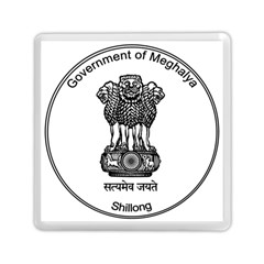 Seal Of Indian State Of Meghalaya Memory Card Reader (square)  by abbeyz71