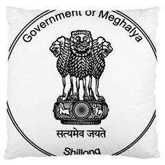 Seal Of Indian State Of Meghalaya Large Cushion Case (one Side) by abbeyz71