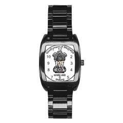 Seal Of Indian State Of Meghalaya Stainless Steel Barrel Watch by abbeyz71