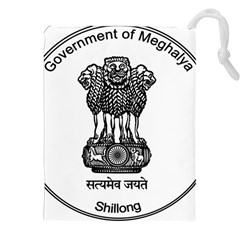 Seal Of Indian State Of Meghalaya Drawstring Pouches (xxl) by abbeyz71