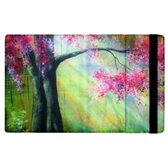 Forests Stunning Glimmer Paintings Sunlight Blooms Plants Love Seasons Traditional Art Flowers Apple iPad 3/4 Flip Case by Gogogo