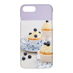 Blueberry Cupcakes Apple Iphone 7 Plus Hardshell Case by Coelfen
