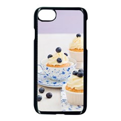 Blueberry Cupcakes Apple Iphone 7 Seamless Case (black) by Coelfen