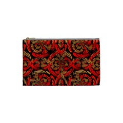 Red And Brown Pattern Cosmetic Bag (small)  by linceazul