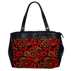 Red And Brown Pattern Office Handbags by linceazul