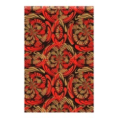 Red And Brown Pattern Shower Curtain 48  X 72  (small)  by linceazul