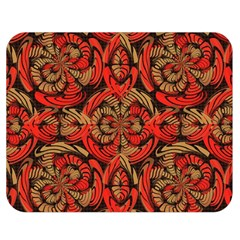 Red And Brown Pattern Double Sided Flano Blanket (medium)  by linceazul