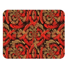 Red And Brown Pattern Double Sided Flano Blanket (large)  by linceazul