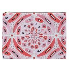 Geometric Harmony Cosmetic Bag (xxl)  by linceazul